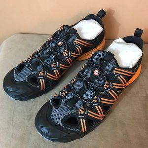 Merrell Choprock Shandal sandals flame orange sz12